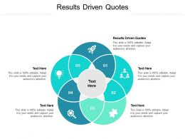 Results Driven Quotes Ppt Powerpoint Presentation Pictures Maker Cpb