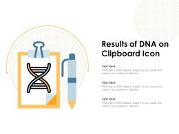Results Of DNA On Clipboard Icon