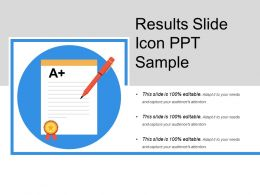 Results Slide Icon Ppt Sample