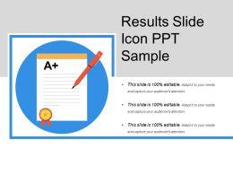 Results Slide Icon Ppt Sample