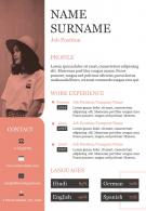 Resume Business Curriculum Vitae Powerpoint Sample Template