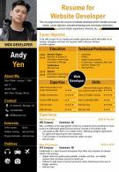 Resume For Website Developer Presentation Report Infographic PPT PDF Document