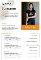 Resume Sample CV Design Powerpoint Editable Template