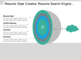 Resume Style Creative Resume Search Engine Optimization Marketing Placement Cpb
