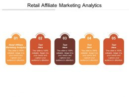 Retail Affiliate Marketing Analytics Ppt Powerpoint Presentation Gallery Information Cpb