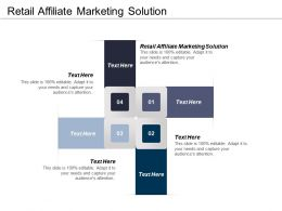 Retail Affiliate Marketing Solution Ppt Powerpoint Presentation Ideas Slideshow Cpb