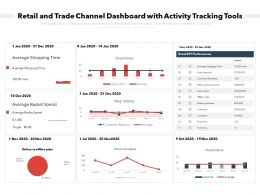 Retail And Trade Channel Dashboard With Activity Tracking Tools