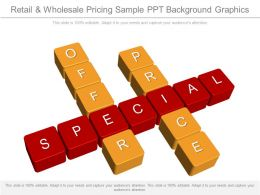 Retail And Wholesale Pricing Sample Ppt Background Graphics