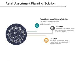 Retail Assortment Planning Solution Ppt Powerpoint Presentation Portfolio Designs Cpb