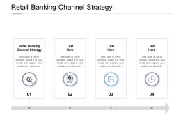 Retail Banking Channel Strategy Ppt Powerpoint Presentation Sample Cpb