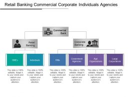 Retail Banking Commercial Corporate Individuals Agencies