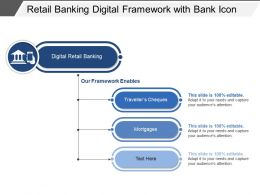 Retail Banking Digital Framework With Bank Icon