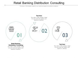 Retail Banking Distribution Consulting Ppt Infographics Visual Aids Cpb