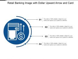 Retail Banking Image With Dollar Upward Arrow And Card