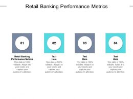 Retail Banking Performance Metrics Ppt Powerpoint Presentation Summary Good Cpb