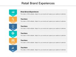 Retail Brand Experiences Ppt Powerpoint Presentation Slides Rules Cpb