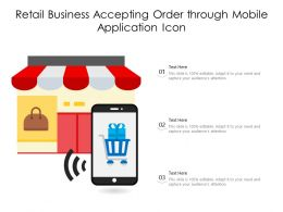 Retail Business Accepting Order Through Mobile Application Icon