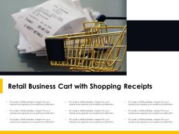 Retail Business Cart With Shopping Receipts