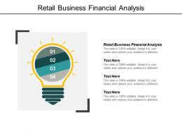 Retail Business Financial Analysis Ppt Powerpoint Presentation Model Demonstration Cpb