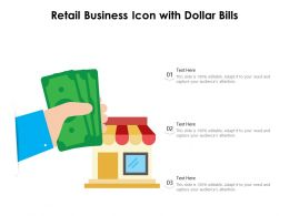 Retail Business Icon With Dollar Bills