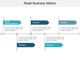 Retail Business Metrics Ppt Powerpoint Presentation Ideas Skills Cpb