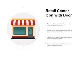 Retail Center Icon With Door