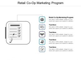 Retail Co Op Marketing Program Ppt Powerpoint Presentation Summary Design Ideas Cpb