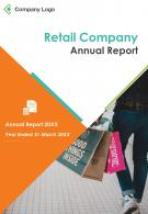 Retail Company Annual Report PDF DOC PPT Document Report Template