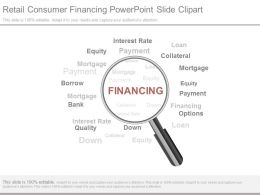 Retail Consumer Financing Powerpoint Slide Clipart