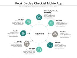 Retail Display Checklist Mobile App Ppt Powerpoint Presentation Layouts Guidelines Cpb