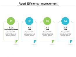 Retail Efficiency Improvement Ppt Powerpoint Portfolio Microsoft Cpb