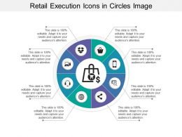 Retail Execution Icons In Circles Image