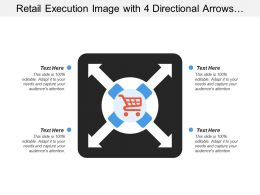 Retail Execution Image With 4 Directional Arrows And Cart
