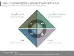 Retail Financial Services Industry Powerpoint Slides