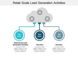 Retail Goals Lead Generation Activities Ppt Powerpoint Presentation Styles Ideas Cpb
