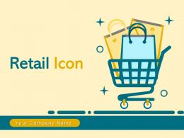 Retail Icon Dollar Cart Price Tag Cash Counter Bubble