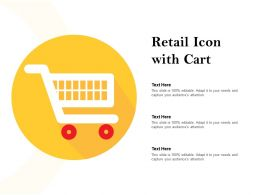 Retail Icon With Cart