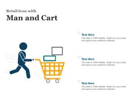 Retail Icon With Man And Cart