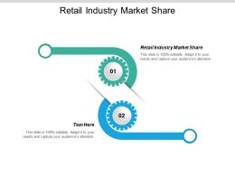 Retail Industry Market Share Ppt Powerpoint Presentation Infographic Template Background Cpb