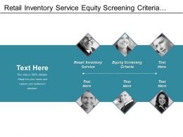 Retail Inventory Service Equity Screening Criteria Retailer Category Price Optimization Cpb