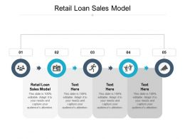 Retail Loan Sales Model Ppt Powerpoint Presentation Layouts Clipart Cpb