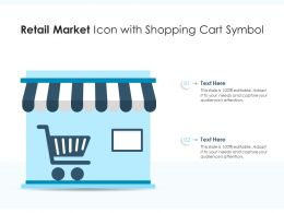Retail Market Icon With Shopping Cart Symbol
