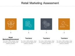 Retail Marketing Assessment Ppt Powerpoint Presentation Show Cpb