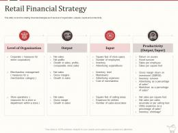 Retail Marketing Mix Retail Financial Strategy Ppt Powerpoint Presentation Outline Pictures