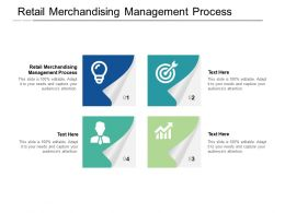 Retail Merchandising Management Process Ppt Powerpoint Presentation File Deck Cpb