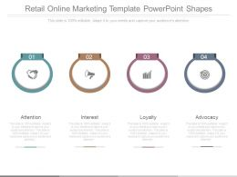 Retail Online Marketing Template Powerpoint Shapes