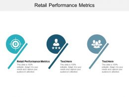 Retail Performance Metrics Ppt Powerpoint Presentation Gallery Graphic Tips Cpb