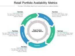 Retail Portfolio Availability Metrics Ppt Powerpoint Presentation Styles Files Cpb