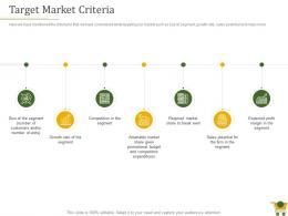 Retail Positioning Strategy Target Market Criteria Ppt Powerpoint Presentation Infographic