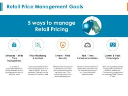 Retail Price Management Goals Performance Meters Ppt Powerpoint Presentation
